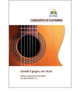 locandina concerto di chitarra