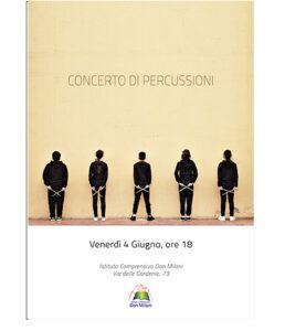 locandina concerto di percussioni